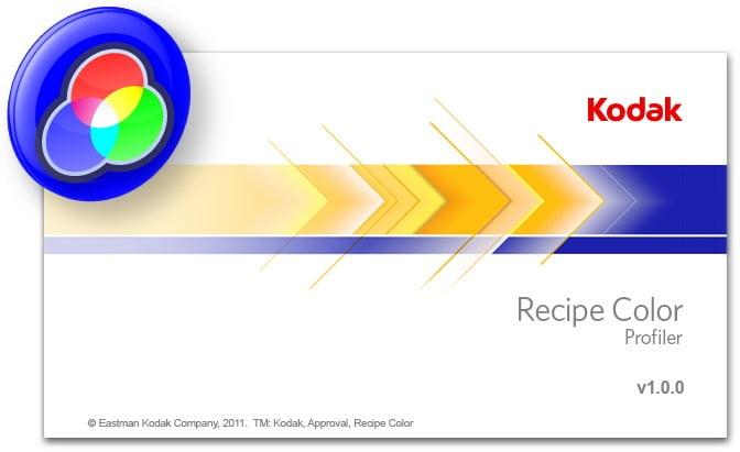 Kodak Recipe Color Profiler Splash Screen