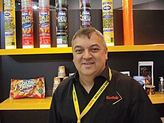 Idealsolution's Andy Molnar on the Kodak stand at PacPrint 2013