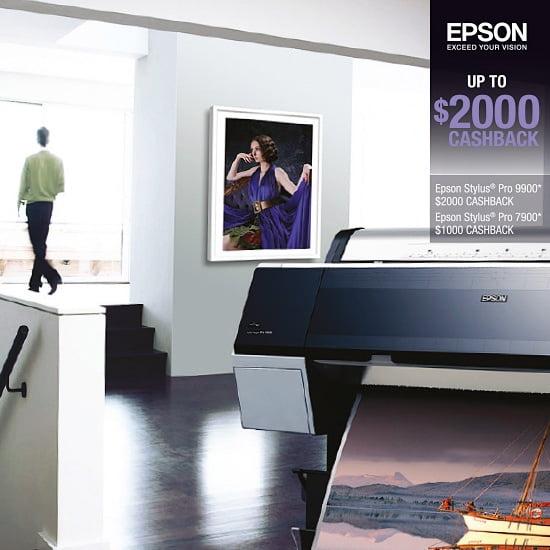 Epson Stylus Pro 9900/7900 $2000/$1000 Cashback Offer